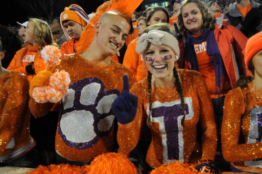 Scotty Haas is know around this South Carolina campus as the Clemson Mohawk.