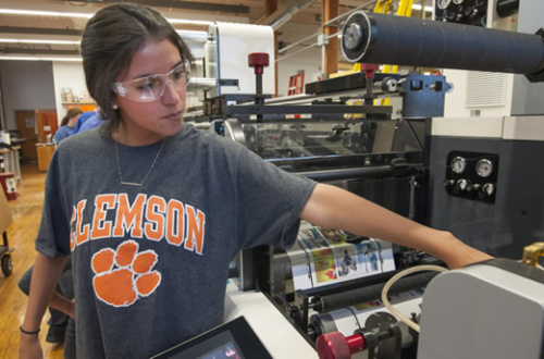 Clemson business school receives Nilpeter press valued at nearly $1 million