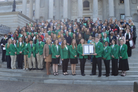 More than 250 4-H members, their families and Cooperative Extension agents attended 4-H Day at the Capitol.