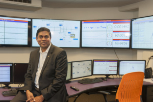 "Kumar Venayagamoorthy and his team will be doing ""smart grid"" research Aug. 21 in the Real-Time Power and Intelligent Systems Laboratory."