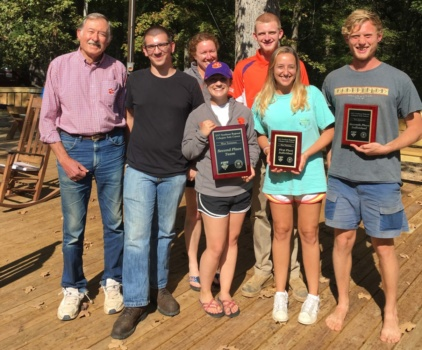 soil judging team holding awards