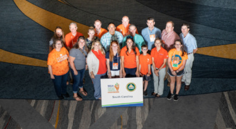 Clemson Extension agents and family members who attended the 2018 NACAA meeting.