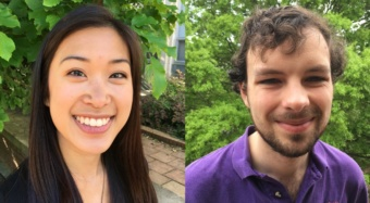 Allison Yaguchi, left, and Robert Underwood are headed to national labs for research after being selected for a U.S. Department of Energy program.